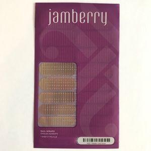 Jamberry Nail Wrap Full Sheet Metallic Gold Stripe
